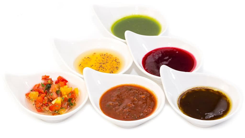 Vegan dips and sauces at Jack in the Box